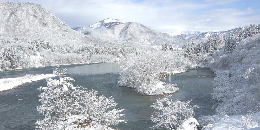 清流、阿賀野川の絶景